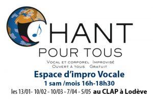 Chant pour Tous Lodève, espace d'impro vocal libre et gratuit