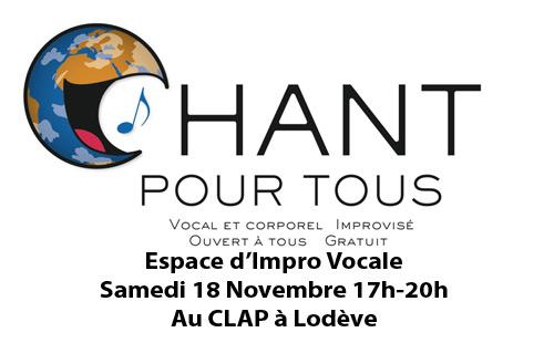CHANT pour TOUS : Espace d'Impro Vocale !