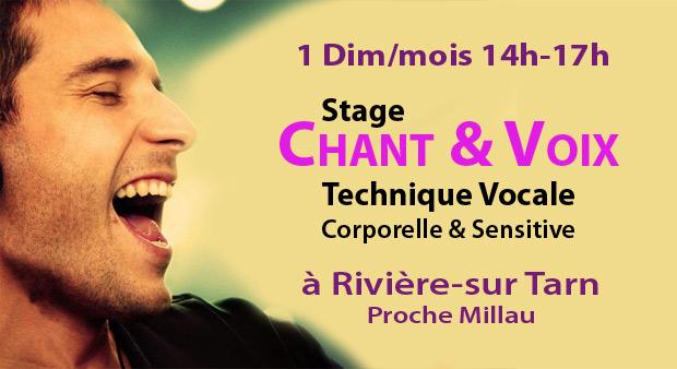 Stage VOIX & CHANT à Rivière sur Tarn (MILLAU) – 1 dimanche par mois