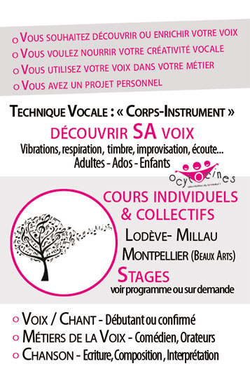 Cours individuel Voix / Chant