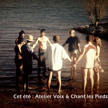 Ateliers Voix et Chant les pieds dans l'eau (salagou) les mercredis de Juillet et aout 18h-19h30