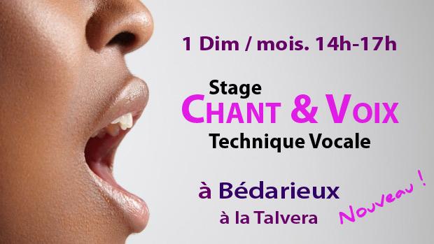 Stage Voix & Chant à Bédarieux à La Talvera -1 dim/mois 13h45-16h45