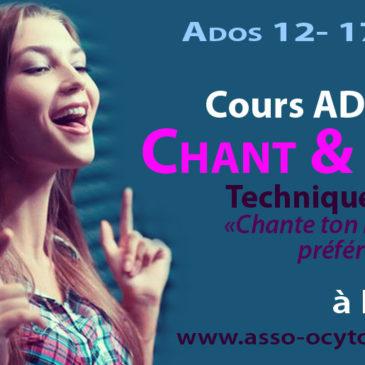 Cours Chant Ado 13-17 ans hebdo