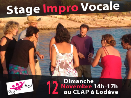 Stage CHANT IMPRO le dim 12 nov
