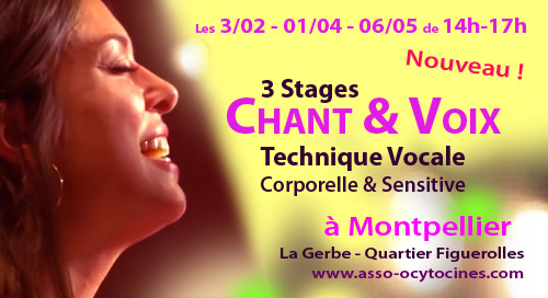 3 Stages VOIX & CHANT à MONTPELLIER