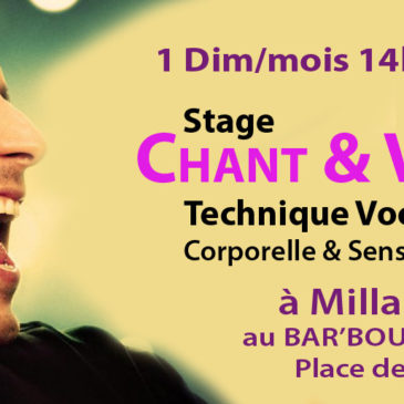 Stages VOIX & CHANT à MILLAU