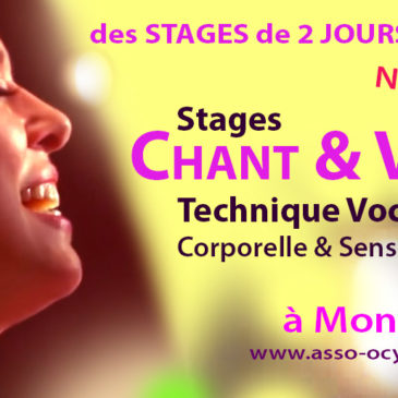 Stages VOIX & CHANT à MONTPELLIER